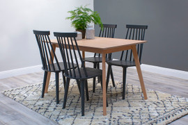 Isla Dining Set with 4 Chairs 120 cm-Beech