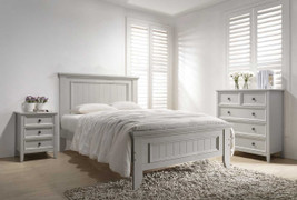 Mila 5' Bed Panelled-Clay
