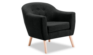 Perig Accent Chair-Charcoal
