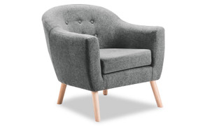 Perig Accent Chair-Grey