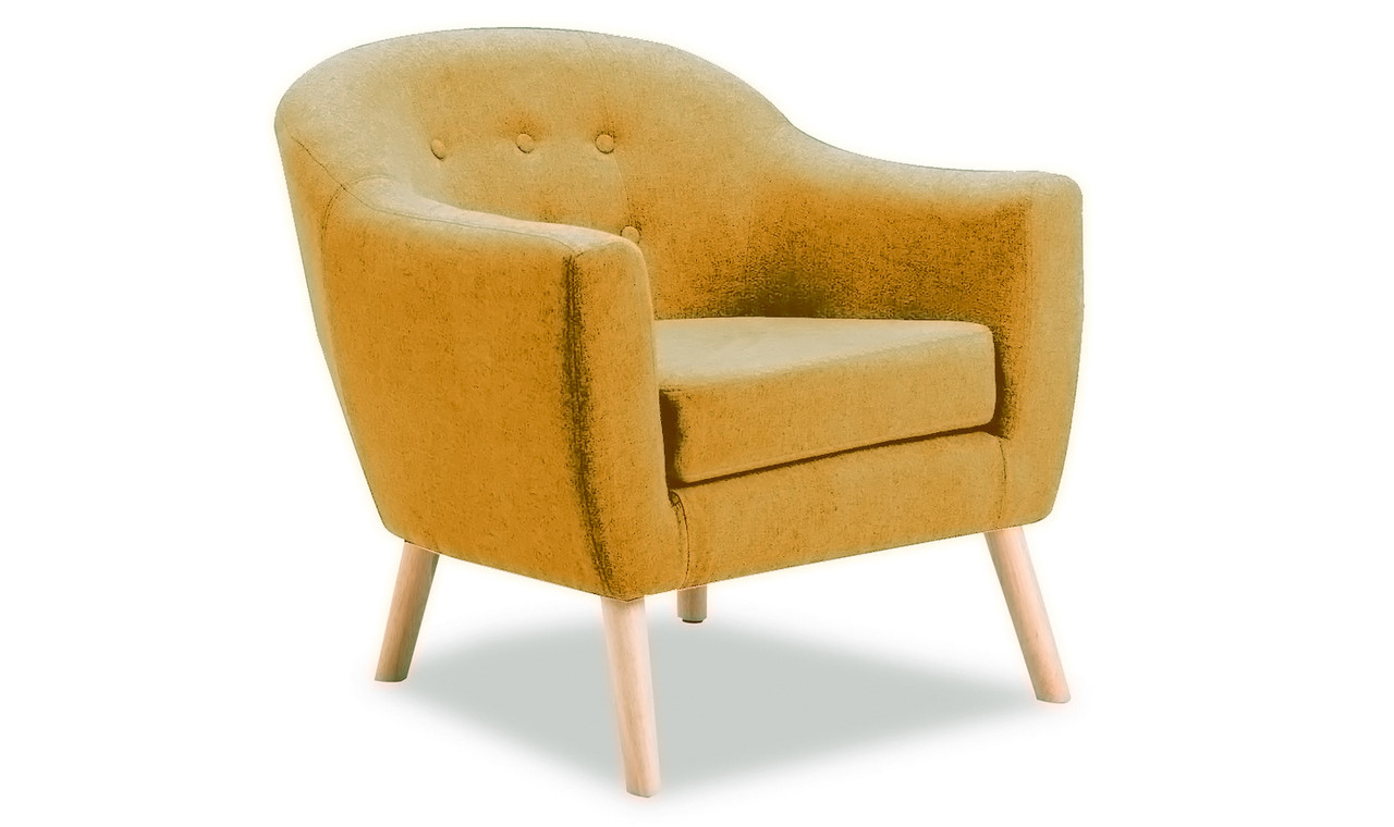 Picture of: Perig Accent Chair Mustard Ideal Furniture