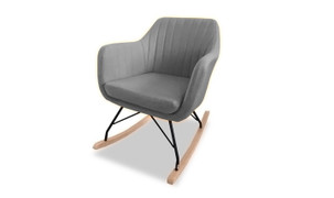 Katell Rocking Chair-Grey