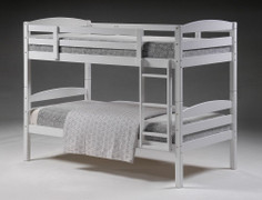 Mars White Bunk Bed  Solid wooden bunk painted white will take 2 single 3 ft mattress