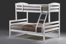Mars White Triple Bunk  Solid wood painted white  top 3ft single size  base 4ft6 double size