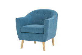 Fulham Chenille Fabric Teal Chair