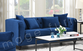 Elisa 3 Seater-Dark Blue