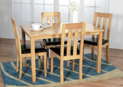 Annecy Dining Table + 4 Annecy Dining Chairs.