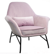 Amy Occasional Chair-Pink