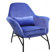 Amy Occasional Chair-Purple