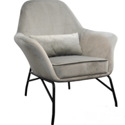 Amy Occasional Chair-Grey