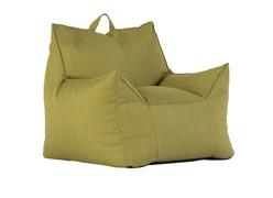 Union Fabric Bean Chair-Lime Green