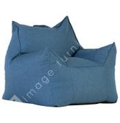 Union Fabric Bean Chair-Blue