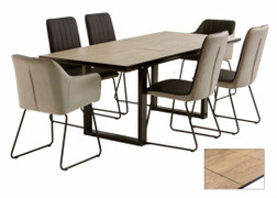 Cadiz Dining Set with 4 Chairs & 2 Arm chairs (Ext. 160 cm)