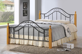 Baltimore Black 5ft King bed    Metal and Wooden bed