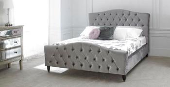 LB20 Bed 6'-Silver Velvet