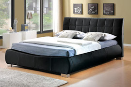 LB10 Bed 6'-Black Faux Leather