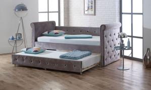 LB40 Sofa Bed-Silver Velvet