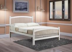 Carla 4'6 Bed-White