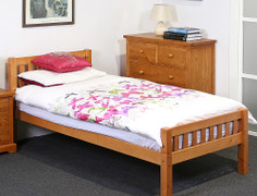 Katie 4' Bed-Honey Pine