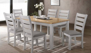 Hampshire Grey 4' Dining Set with 4 Chairs