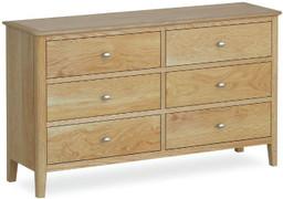 Bath Oak 6 Drawer Chest