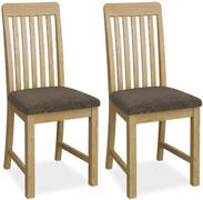 Bath Oak Dining Chair-Vertical Slatted Back