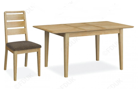 Bath Oak Small Ext. Dining Set with 6 Chairs