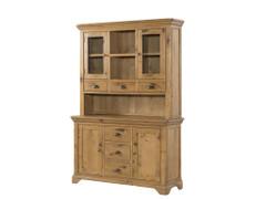 Lyon Oak 3 Door Hutch & Buffet