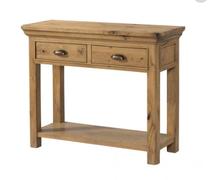 Lyon Oak 2 Drawer Console Table