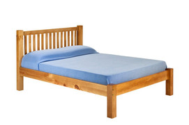 Mark 4ft Small Double bed  Solid Pine Bed