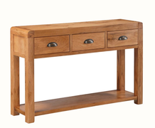 Oakridge 3 Drawer Hall Table