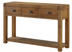 Oakridge Dark 3 Drawer Hall Table