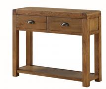 Oakridge Dark 2 Drawer Hall Table