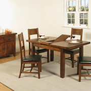 Roscrea 4x3 Butterfly Extension Dining Set