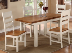 Heritage 5x3 Butterfly Dining Set With 6 Chairs