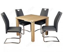 Encore Sonoma Dining Set with Grey Chairs