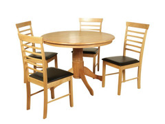 Hanover Light Small Round Dining Set