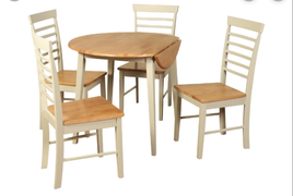 Berlin Round Drop Leaf Dining Set