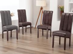 Carolyn Dining Chair-Burgundy
