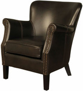Harlow Armchair-Brown Leather Air Fabric