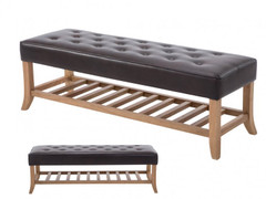 Amira Bench-Two Tone Brown