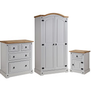 Corona Trio Bedroom Set-Grey