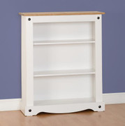 Corona Low Bookcase-White
