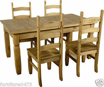 Corona Extending Dining Set- 4 chairs