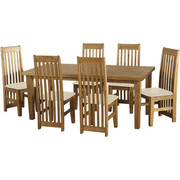 Tortilla 6' Dining Set with Cream PU Chairs