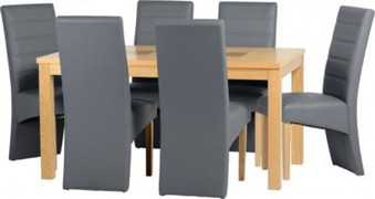 Wexford 59'' Dining Set with G5 Grey Chairs