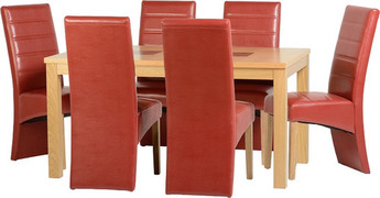 Wexford 59'' Dining Set with G5 Red Chairs