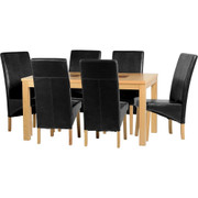 Wexford 59'' Dining Set with G1 Black PU Chairs