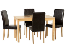 Wexford 47'' Dining Set with  Black PU G3 Chairs