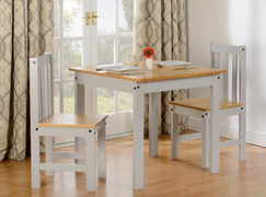 Ludlow 1+2 Dining Set-Grey